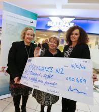 (Pictured in photograph Brenda Kennedy – Lloyds Bank Foundation for Northern Ireland, Kate Ferguson - Brainwaves,  Lorraine Burns - Halifax)